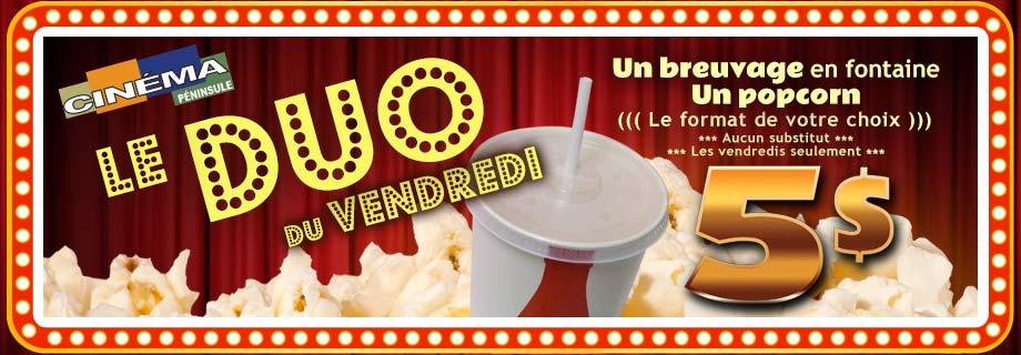 Le Duo du vendredi au Cinéma Péninsule